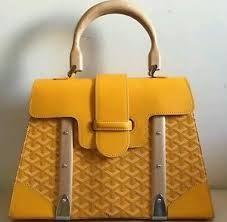 Image result for goyard bag with wood handles yellow