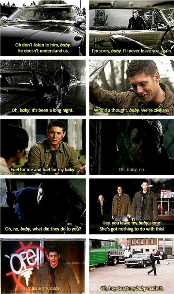 HE CALLED CAS A BABY IN A TRENCHCOAT. HE LOVES HIS BABY. HE LOVES CAS. STOP MAKING DESTIEL SO PAINFUL WRITERS