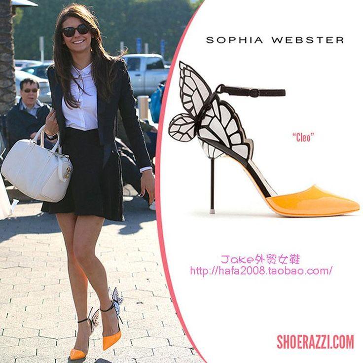 JC высоком каблуке, сандалии женщин каблуки Дневники вампира актриса Софи Вебстер фантазии красочные бабочки - Taobao