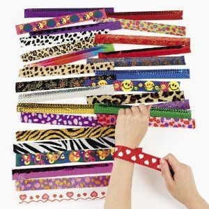 Slap bracelets assorted MEGA pack- great party favors for 90's theme party