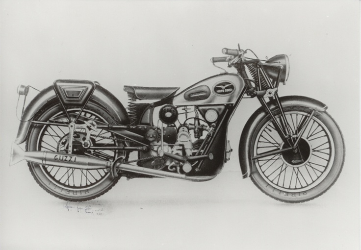 "Moto Guzzi Airone 250 - 1939: This model marked the arrival of the mid-range #motorbike. A ""quarter of a litre"" with four gears retailing at 6,200 lire in 1939, about half the price of the Fiat 508 Balilla. More than 27,000 #Airone #bikes were produced. #motoguzzi #Moto #Guzzi #motorcycle #history #Italy"