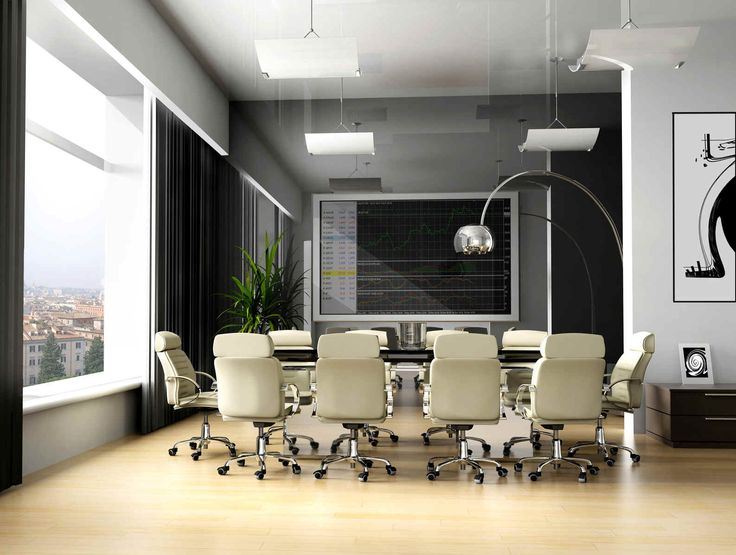 business office decorating ideas pictures. office meeting room design inspiration with white armchairs furniture ideas also unique curved alminum floor lamps and beautiful outdoor scenery for business decorating pictures e