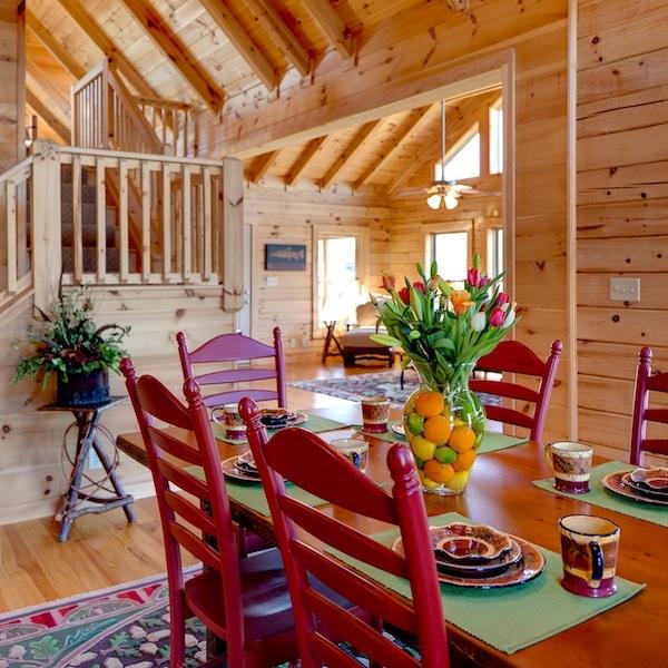 Blue Ridge Dining Room: Pin By Blue Ridge Log Cabins On Blowing Rock Log Home