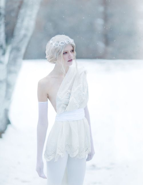 "The silence of the scene was broken by the sound of footsteps, and Quin turned to look, seeing a snow maiden stepping towards her. ""Hi..."" she whispered. The snow maiden nodded, ""Greetings, glimpse..."""