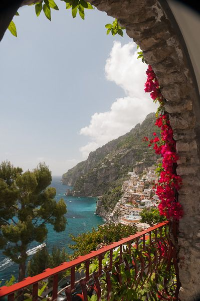 The Balcony at Hotel Eden Roc, Positano, Italy on Open-Window ©Claudia Ward