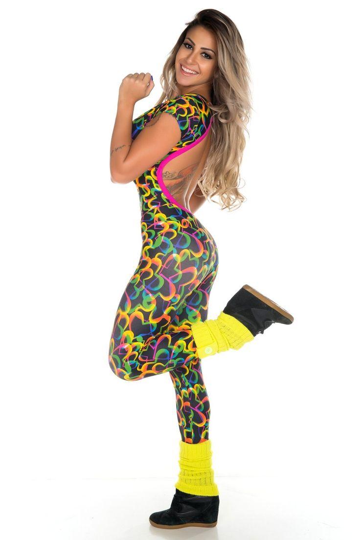 Garota Fit - Macacão Valentina Heart - Ref.: MAC106X