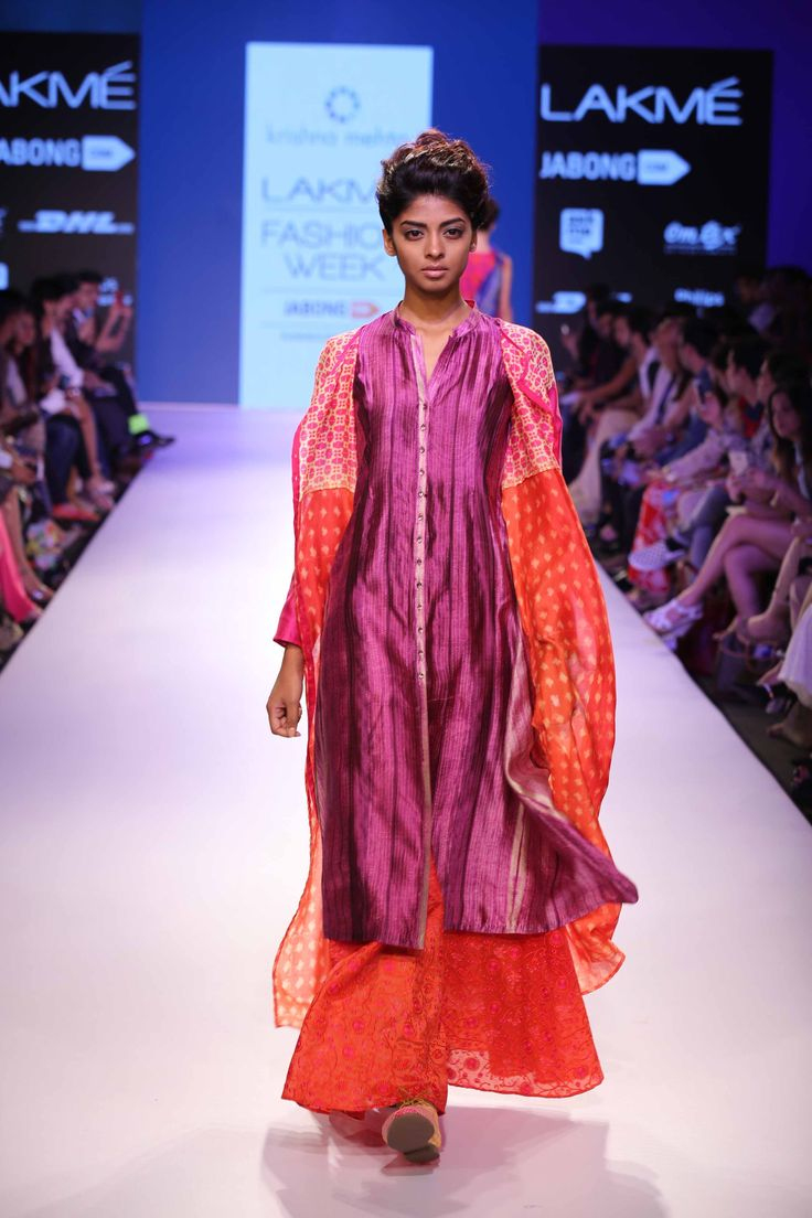 Lakmé Fashion Week – KRISHNA MEHTA AT LFW SR 2015