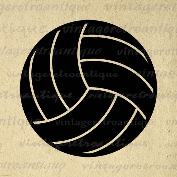 Digital Printable Volleyball Image Sports Graphic Volleyball