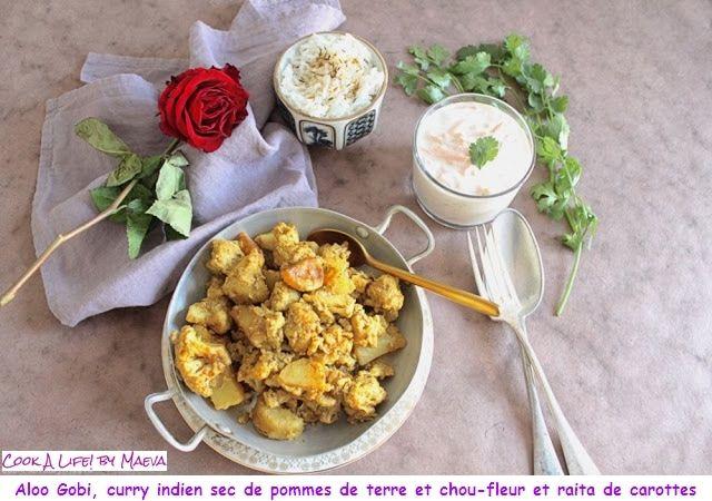 Aloo Gobi, curry indien sec de pommes de terre et chou-fleur & raita de carottes  @cookalifebymaeva @CookALife_Maeva    @Mj0glutenVG #0GlutenVegeBrest   #sansgluten #VEGAN #Aloo #Gobi #curry #pommesdeterre #choufleur #raita #carottes     http://0-gluten-vege-brest.weebly.com/vegan-sg-monde--vegan-gf-world/aloo-gobi-curry-indien-sec-de-pommes-de-terre-et-chou-fleur-raita-de-carottes