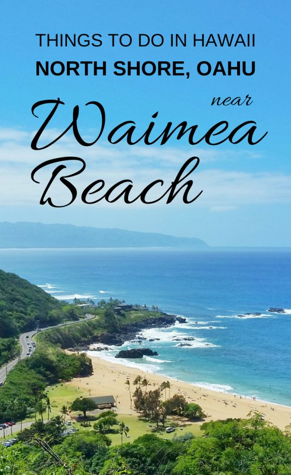 For things to do in North Shore Oahu, there are activities like beaches, swimming, waterfalls hike, and culture activities. These are some Hawaii bucket list destinations you can find near Waimea Beach for US adventures on a budget. So put outfits on the Hawaii packing list for beaches and hikes! In winter, Waimea Bay is one of the best surfing spots. This Oahu beach is a day trip from Waikiki or Honolulu with snorkeling beaches in summer with calm ocean waves. With North Shore Oahu map.