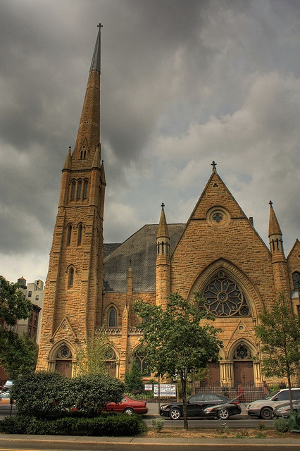 Harlem church in gloomy light with HDR