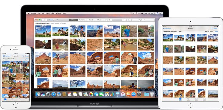 iCloud Photo Library works seamlessly with the Photos app to keep your photos and videos securely stored in iCloud and up to date on your iPhone, iPad, iPod touch, Mac, Apple TV, andiCloud.com.