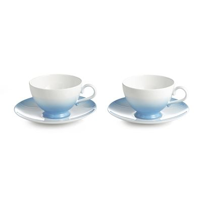 Auratic 15-00329 Aladdin Cup And Saucer (Set of 2) #home decor sale & deals Color:Blue Aladdin Cup And Saucer (Set of 2) Nick Munro for Auratic Aladdin Collection on Bone China features modern coupe shape dinnerware design wit...