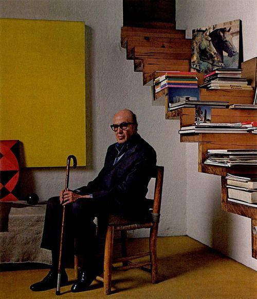 Luis Barragán, en su casa.
