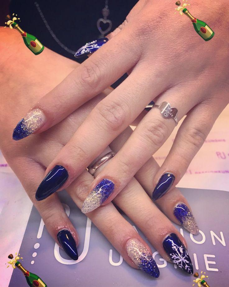 #nails #unghie #capodanno #2017 #blu #fantastiche