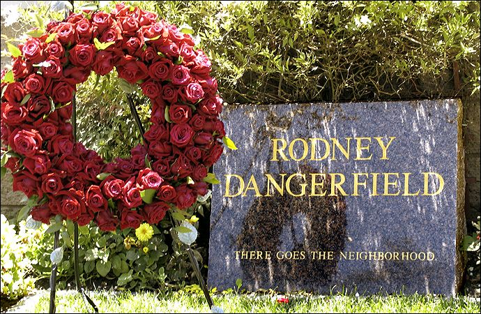 Rodney Dangerfield  1921-2004 ~ Pierce Brothers Westwood Memorial Park  in Los Angeles, California