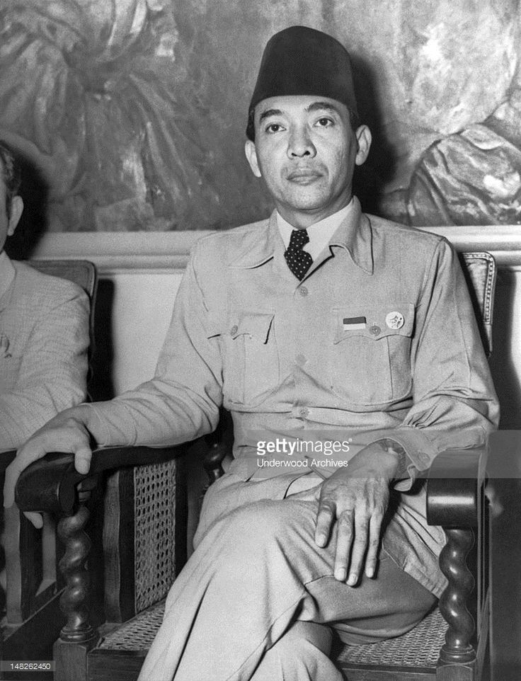 In a radio broadcast today, President Sukarno called upon the Indonesians to defend themselves from the Dutch in this struggle for freedom, Jogjakarta, Indonesia, July 21, 1947. He said the attack from the Dutch 'means the beginning of colonial warfare'.