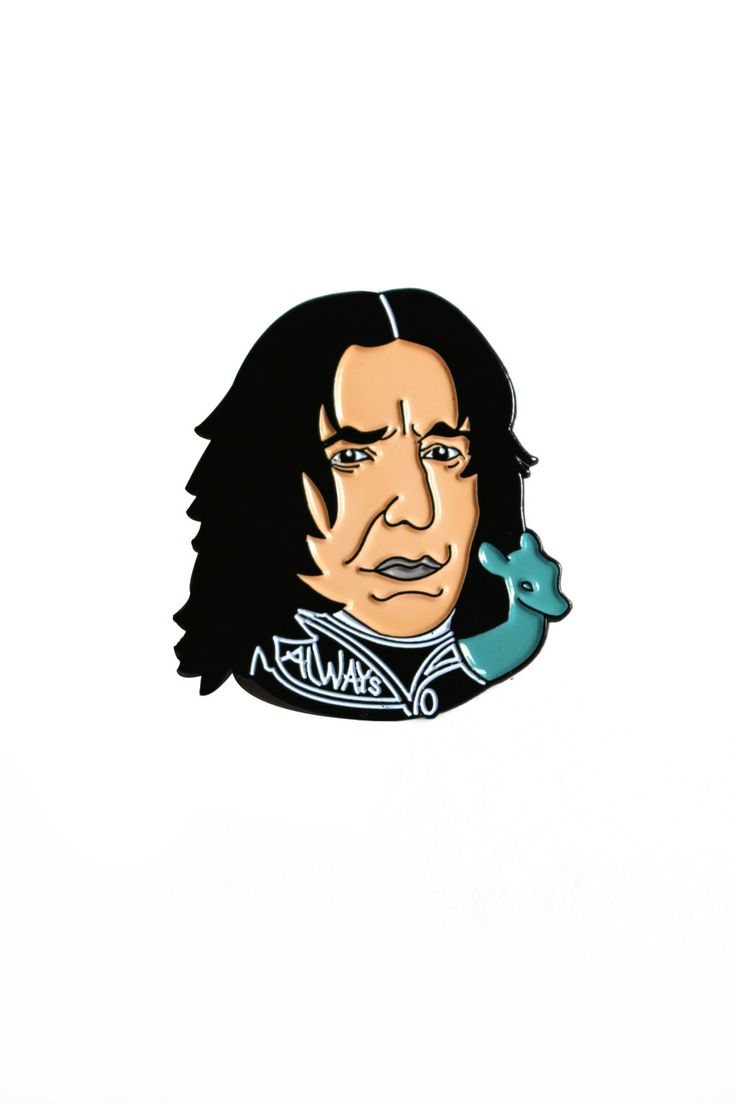 Snape, Always & Forever. Enamel Pin - Designed by: Taren S. Black by osloANDalfred on Etsy https://www.etsy.com/listing/272903634/snape-always-forever-enamel-pin-designed