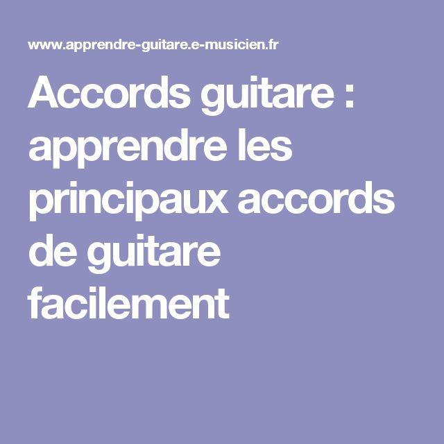 Accords guitare : apprendre les principaux accords de guitare facilement
