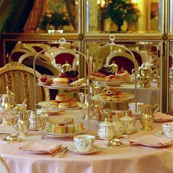 Um conjunto de chá Inglês