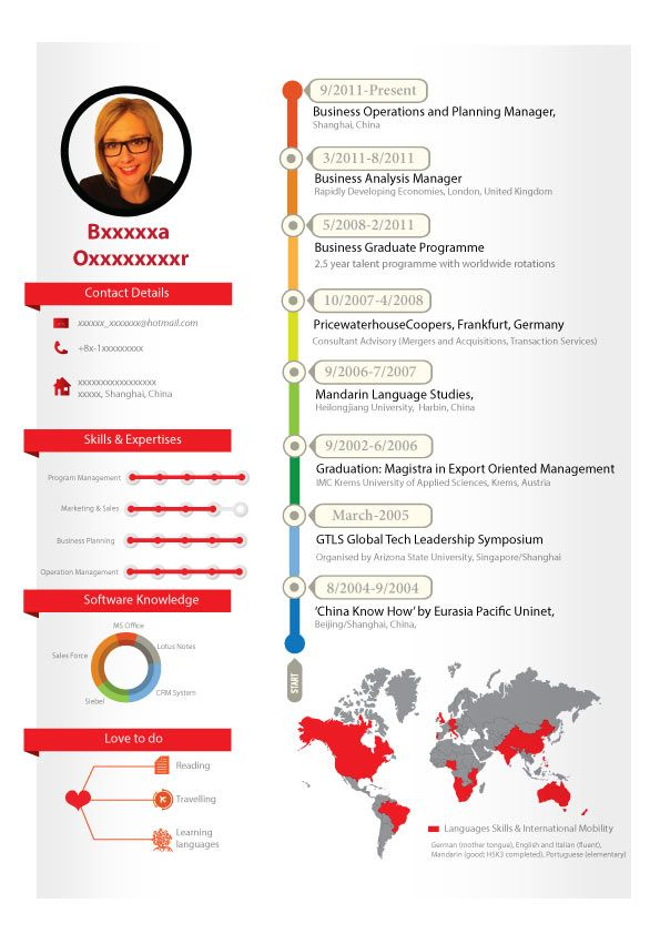 14 best Infographic Resume images on Pinterest Infographic - infographic resume