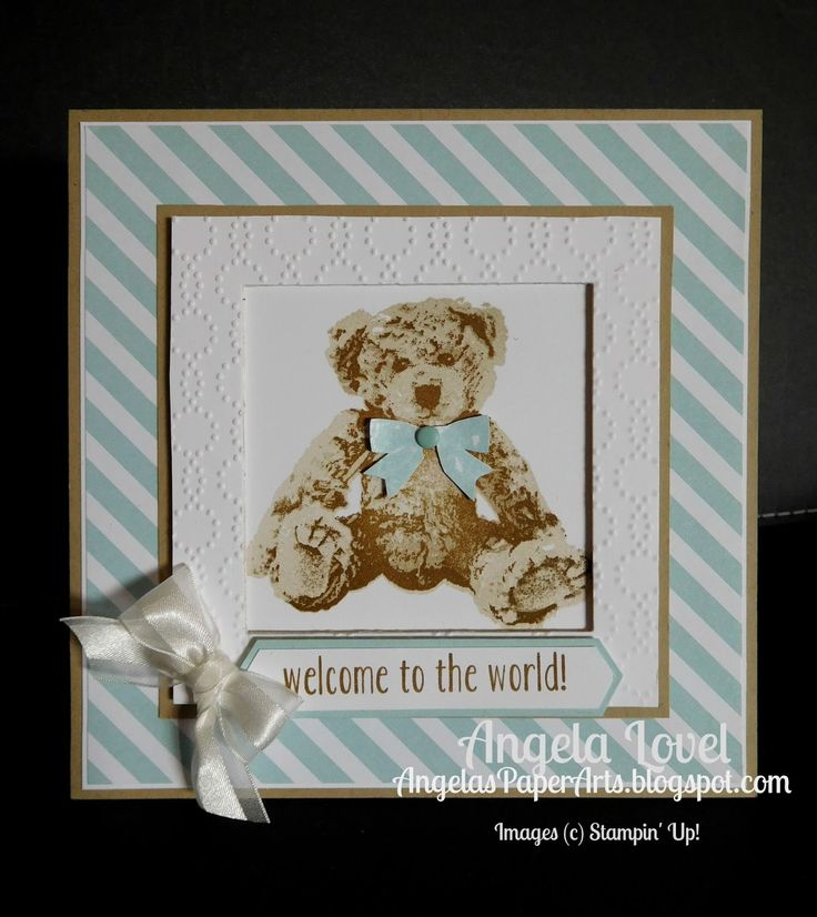 One of my favourite stamp sets released in the Stampin' Up! 2016-17 Annual Catalogue is Baby Bear.It's a gorgeous triple step stamp set.   ...