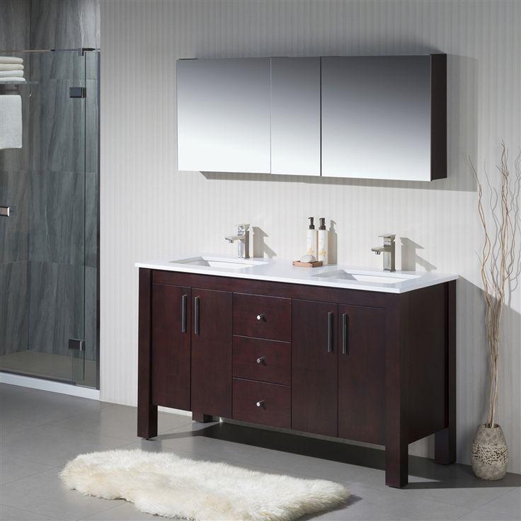 Vanity Parsons 60 D   Quartz Stone. Transitional BathroomQuartz ...