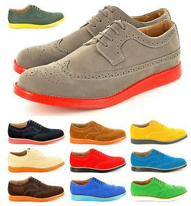 New Mens Casual Formal Lace Up Brogue Designer Shoes In UK Sizes 6 ...