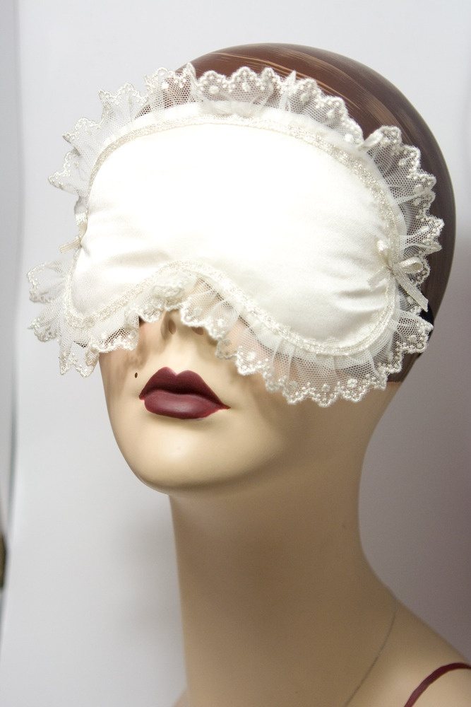 Cheverny - bridal ivory sleepmask with silk lace by Love Me Sugar