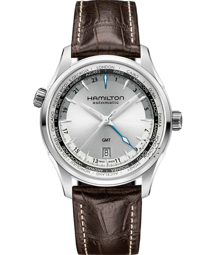 HAMILTON JASSMASTER Automatic GMT Brown Leather Strap Μοντέλο: H32605551 Η τιμή μας: 896€ http://www.oroloi.gr/product_info.php?products_id=38264