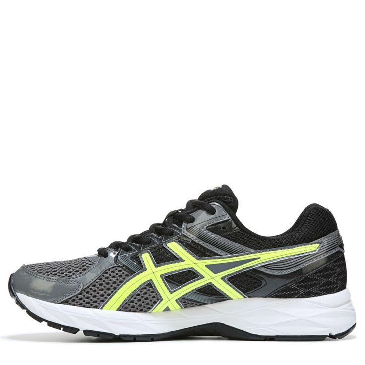 ASICS Men's Gel-Contend 3 Running Shoes (Grey/Yellow/Black) - 10.5 D