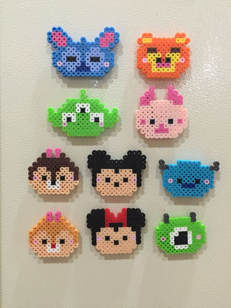 perler tsum tsum completed perler projects