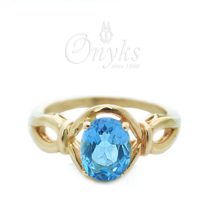 "Gold Ring ""Maria Antonina"" with Blue Topaz by MyOnyks on Etsy"
