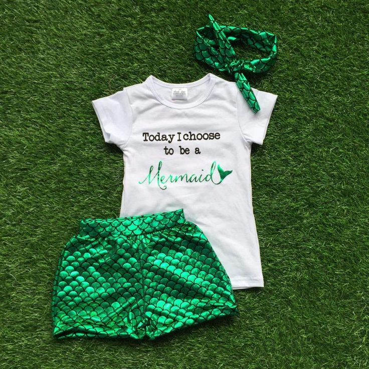 Today I Choose To Be A Mermaid Baby Girl Clothes Toddler Girls Outfit Infant Girl Outfits Summer Boutique Children Clothing Sale by MoxieGirlBoutique on Etsy