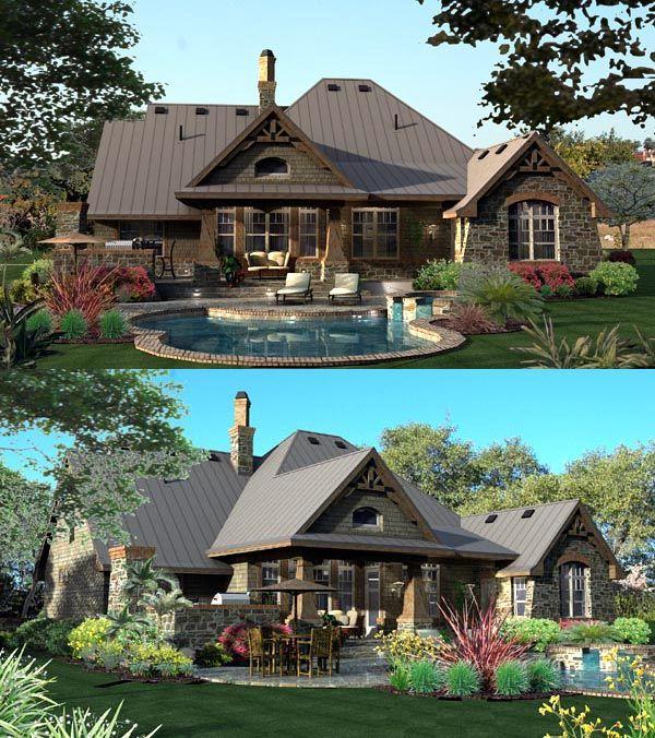 House Plan 65871 | Craftsman European Plan with 2106 Sq. Ft., 3 Bedrooms, 3 Bath