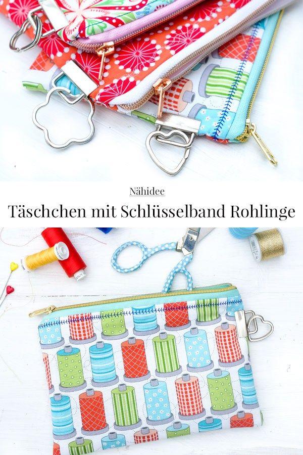 DIY: Täschchen mit Schlüsselband Rohlinge näht. | сумки