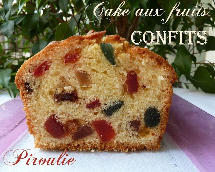 Cake aux fruits confits de Sophie Dudemaine et photos et vidéo pour chemiser un moule à cake - Pâtisseries et gourmandises