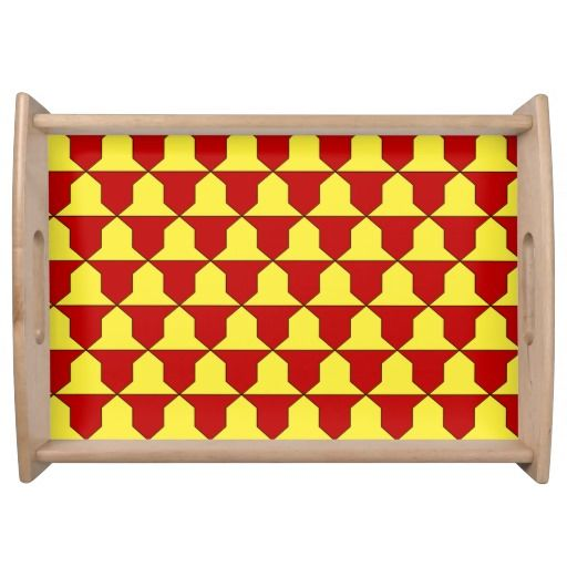 Ferrer of Derby coat of arms fur Service Tray