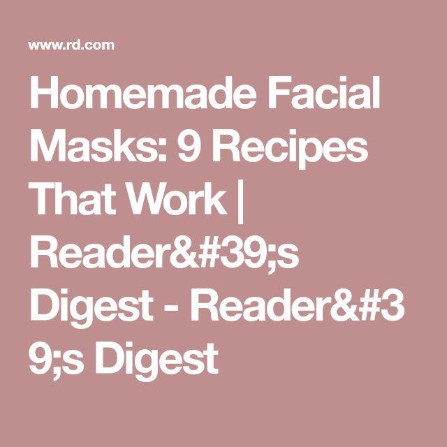 Homemade Facial Masks: 9 Recipes That Work | Reader's Digest-Reader's Digest