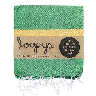 Apple/ Lemon Candy Stripe Turkish Towel
