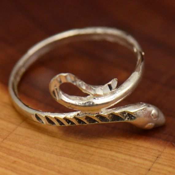 Vintage Sterling Silver Cobra Serpent Snake by MillCreekCollective
