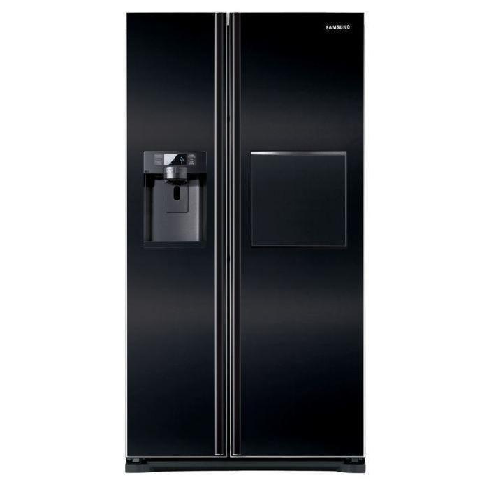Américain - 610L (406+204) - Froid ventilé - A+ - Distributeur d'eau - L 90,8cm x H 178cm - Noir