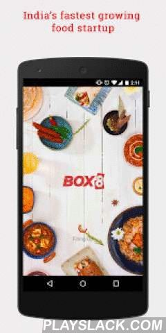 Box8 - Food Delivery  Android App - playslack.com ,  We keep one simple thing in mind when we make our food - we only serve food, that we love to eat.Believing in product innovation, we have designed the All-in-One meal box, which fulfills new-age Indian meal, convenient to eat anytime, anywhere. We have given an interesting twist to Wraps, Sandwiches & Salads with a fusion of Indian & western flavors & have the most authentic, indigenous taste in Biryani & Curries.With an…