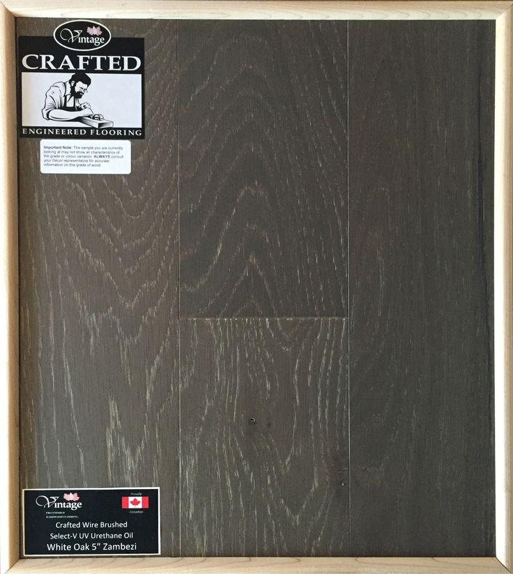 """Included Engineered Hardwood Flooring - White Oak 5"""" Zambezi"""