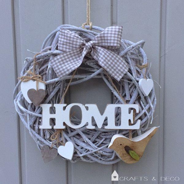 """Türkranz+""""HOME""""+von+Crafts+&+Deco+auf+DaWanda.com"""