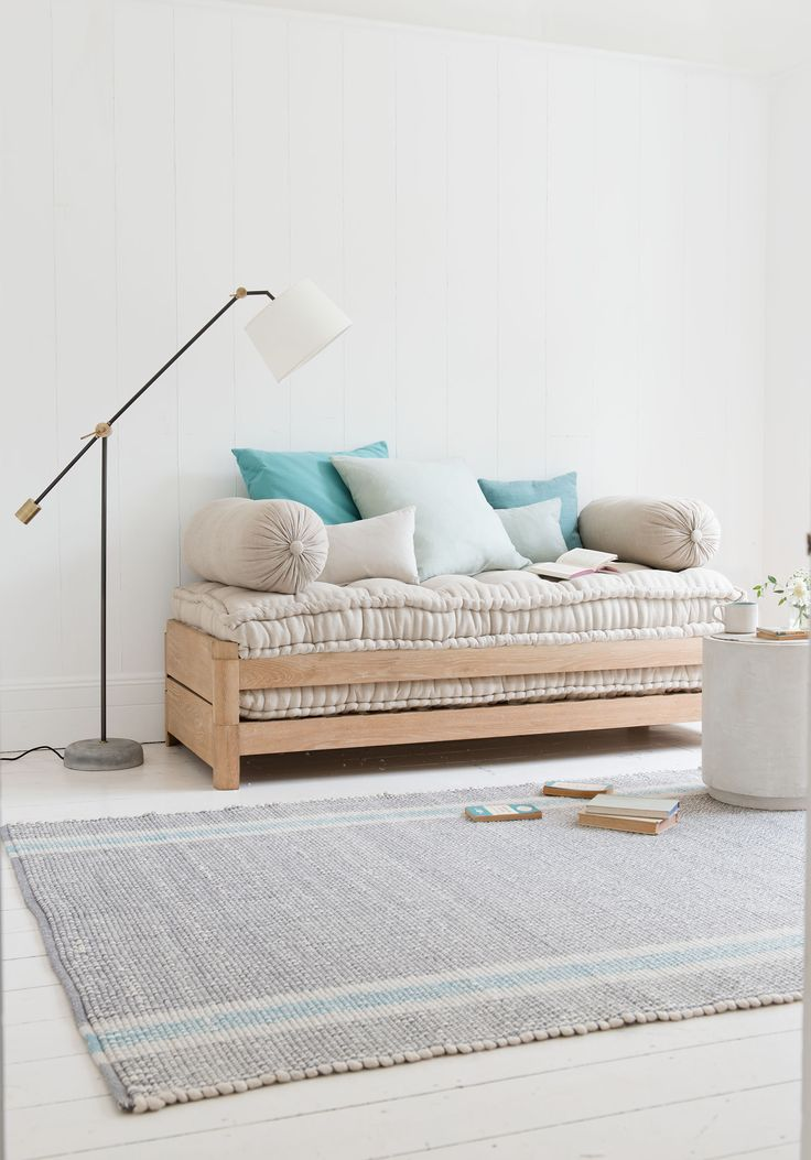 Nothing to do with the late rapper, this gorgeous daybed is so called as the top half lifts off to sit next to the bottom half to become a sturdy occasional bed. Crack-a-lackin'...