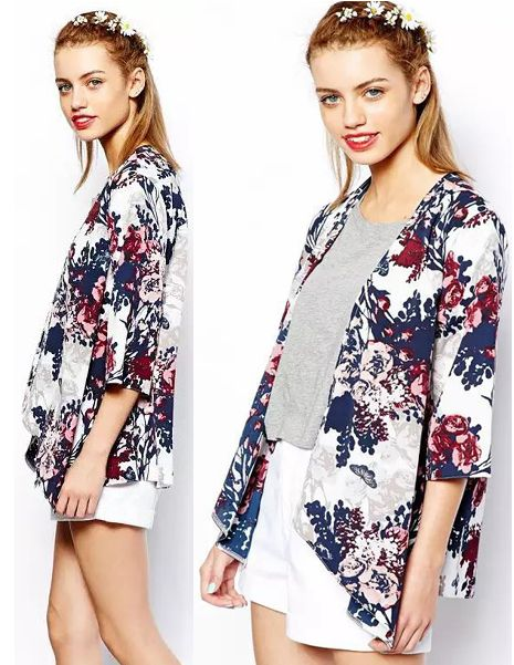 Fashion Vintage Women Floral Loose Half Bat Sleeve Cardigan SIZE S TO 6XL FREE SHIPPING only 17.99usd