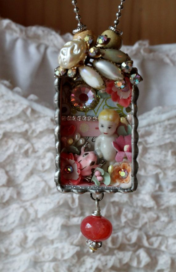 Reserved for Lisa Doll/Frog Shadow box by lisabetzoriginals