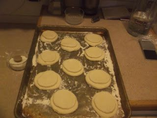 I started baking prosphora this afternoon at about 5:30 pm, a double batch (a single batch being five loaves). I brought down the trusty K...