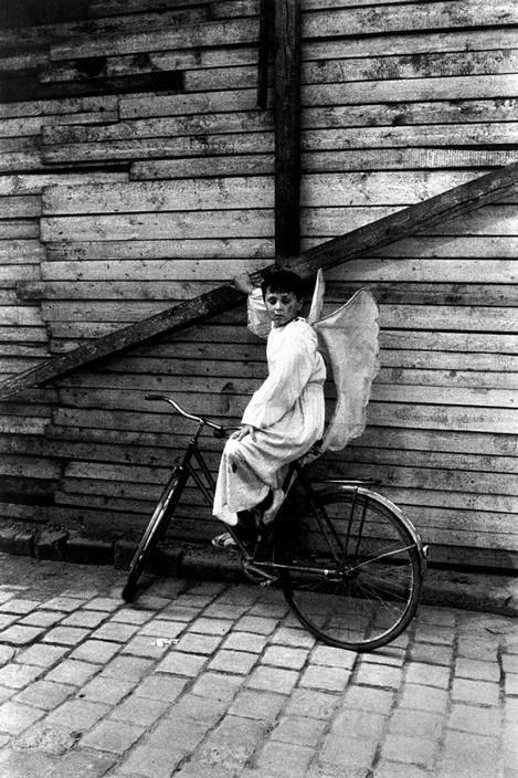 Some angels have been known to come on a cycle. Josef Koudelka artist